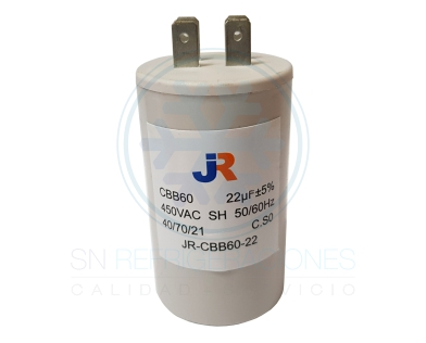 Capacitor de Marcha Plastico 22 uf - JR