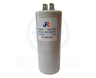 Capacitor de Marcha Plastico 65 uf - JR
