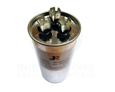 Capacitor de Marcha DUAL Aluminio 60+6 uf - JR