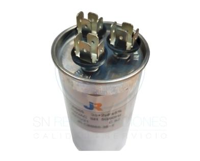 Capacitor de Marcha DUAL Aluminio 35+4 uf - JR