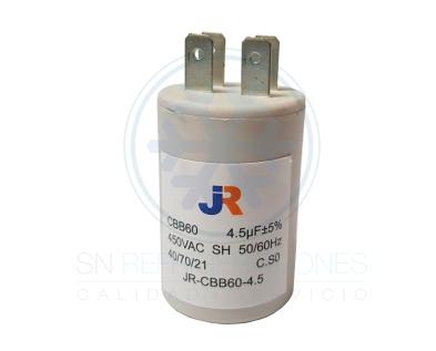 Capacitor de Marcha Plastico 4,5 uf - JR