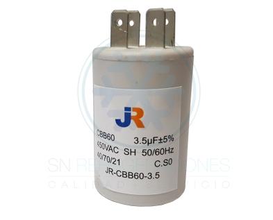 Capacitor de Marcha Plastico 3,5 uf - JR