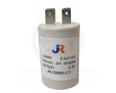 Capacitor de Marcha Plastico 2,5 uf - JR