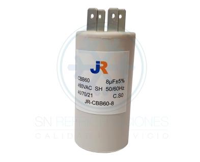 Capacitor de Marcha Plastico 8 uf - JR