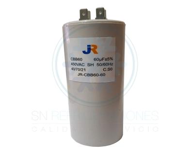 Capacitor de Marcha Plastico 60 uf - JR