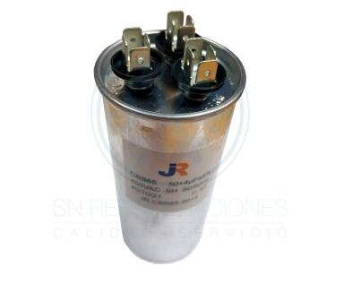 Capacitor de Marcha DUAL Aluminio 50+4 uf - JR