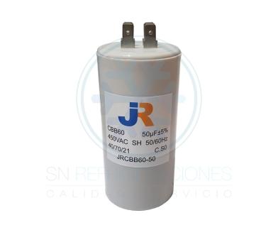 Capacitor de Marcha Plastico 50 uf - JR