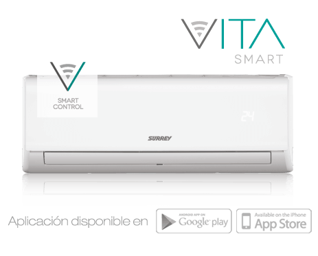 Aire Acondicionado Split Surrey Vita Smart 5.500 Fg Frio Calor