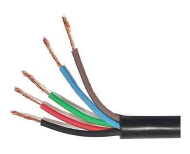 Cable tipo taller IRAM por metro de 5 x 1,5mm
