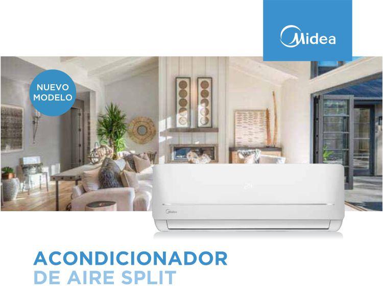 Aire Acondicionado Split Midea Blac de 5.300  Kcal/h Frio / Calor